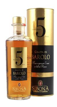 Grappa di Barolo Invecchiata 5 Anni Distilleria Sibona